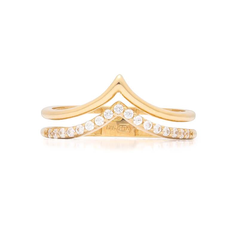4375e50d2 Zlatý prsten se zirkony