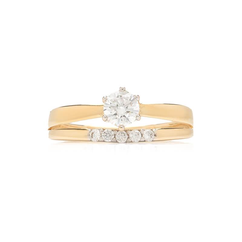 PRSTENY    Zlatý prsten se zirkony 1217a1d3b99