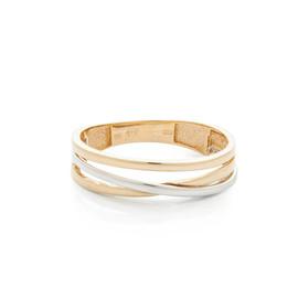 Zlatý prsten bicolor