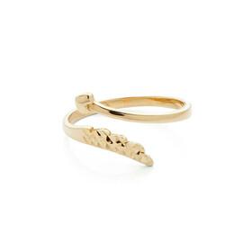 otevřený zlatý prsten
