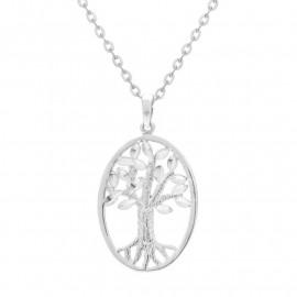 Přívěsek strom života z bílého zlata