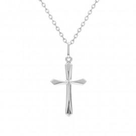 Křížek z bílého zlata