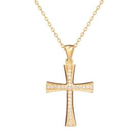 Zlatý křížek se zirkony