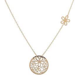 Zlatý náhrdelník s kytičkami