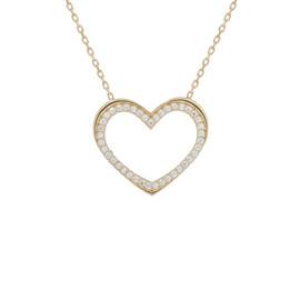 Zlatý náhrdelník se srdíčkem se zirkony