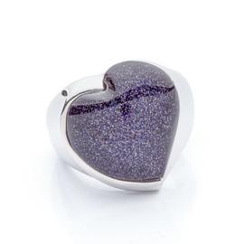 stříbrný prsten s kamenem blue sand