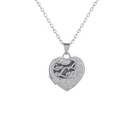 stříbrný medailon srdíčko