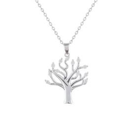 stříbrný strom života se zirkony
