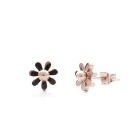 pozlacené stříbrné náušnice květinky