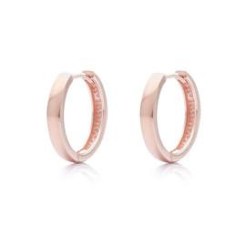 stříbrné kruhy s růžovým pozlacením