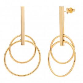 Zlaté náušnice s kruhy