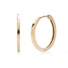 zlaté kruhy 16 mm