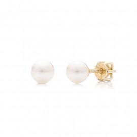 Zlaté náušnice pecky s perlami