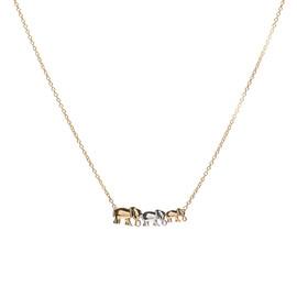 zlatý náhrdelník se slony