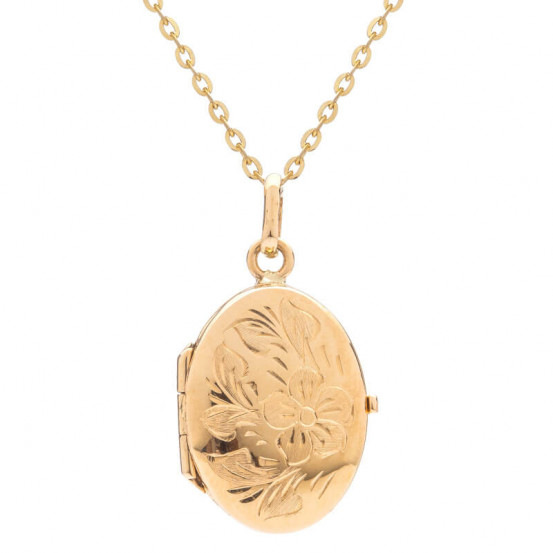 Zlatý medailon s rytinou