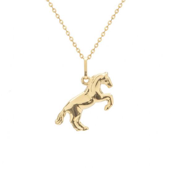 Zlatý přívěsek kůň