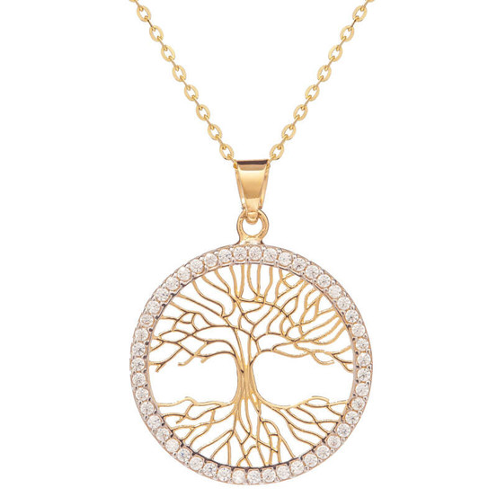 Zlatý strom života se zirkony