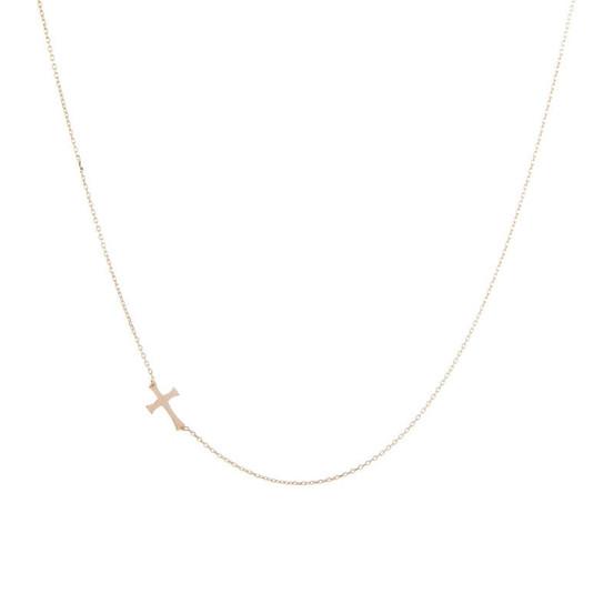Zlatý náhrdelník s křížkem