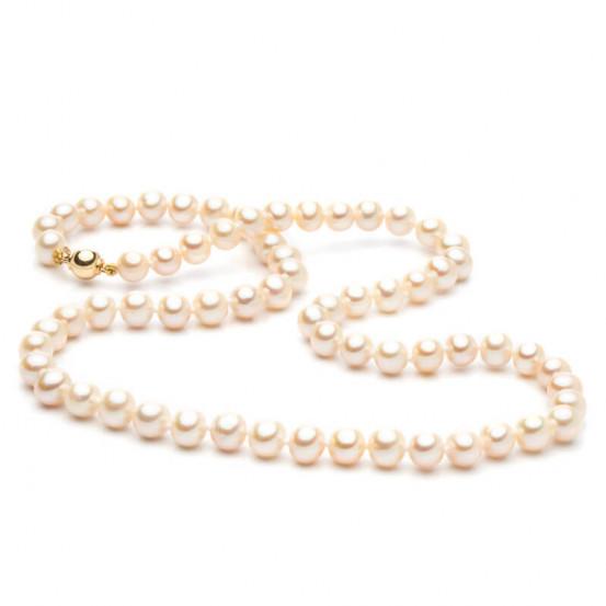 Perlový náhrdelník se zlatým zapínáním