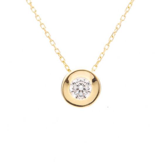 Zlatý náhrdelník se zirkonem