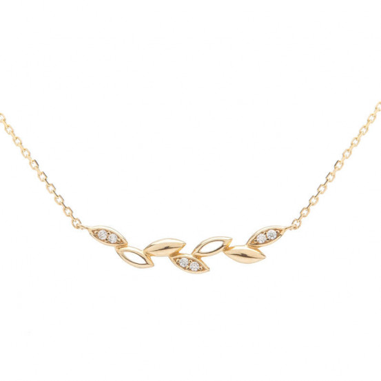 Zlatý náhrdelník se zirkony
