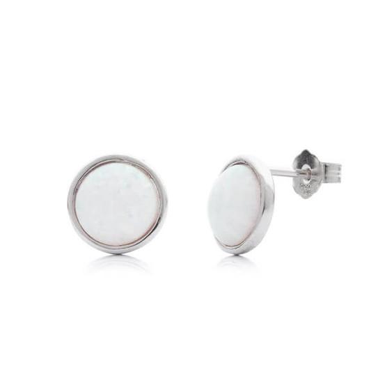 stříbrné náušnice s opálem