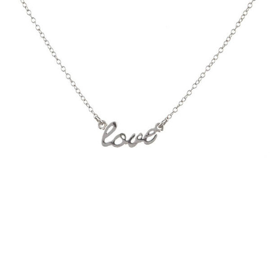 stříbrný náhrdelník love