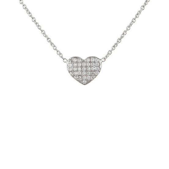 stříbrný náhrdelník se srdíčkem a zirkony