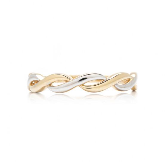 zlatý prsten nekonečno bicolor